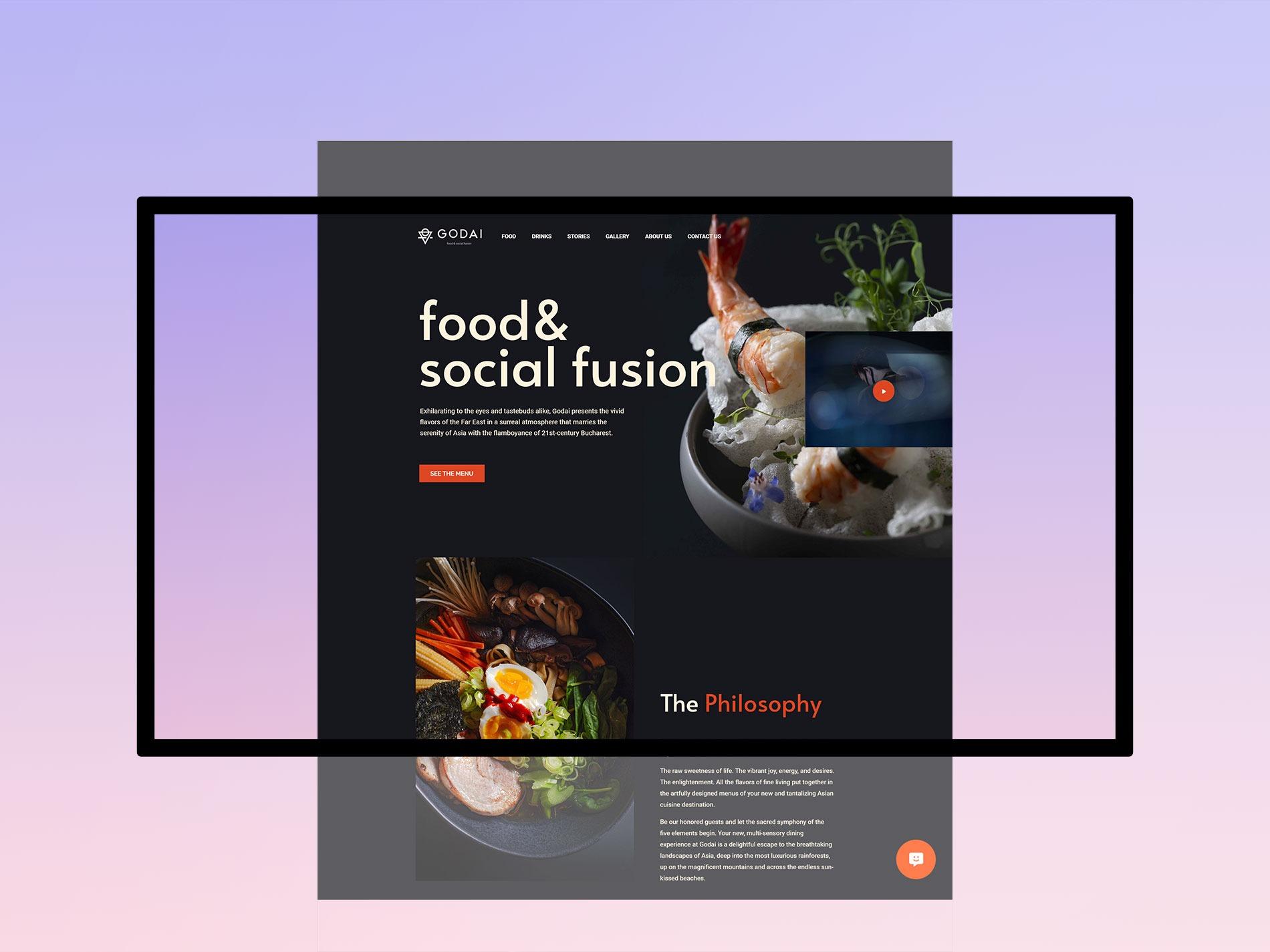Godai Restaurant Website